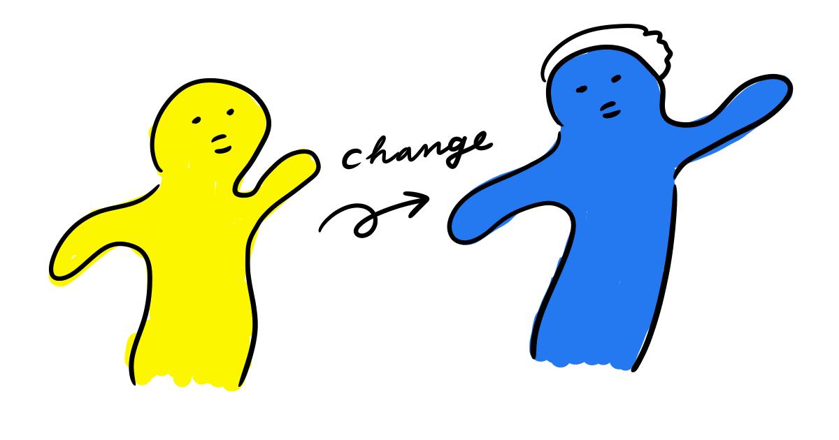 光コラボちゃんが変身するイラスト