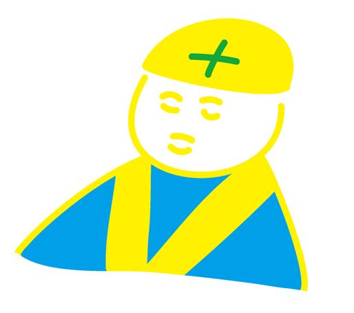 光回線の工事の人のイラスト